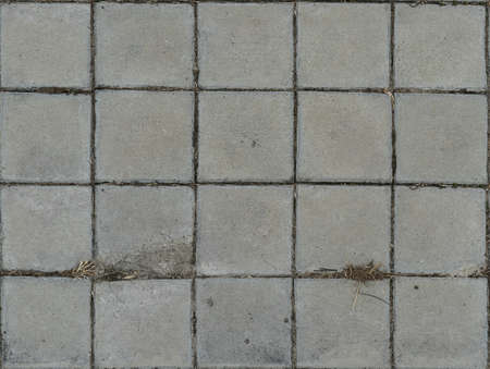 Old seamless concrete paving slabs Standard-Bild