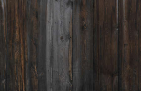 Old natural planked wood fence