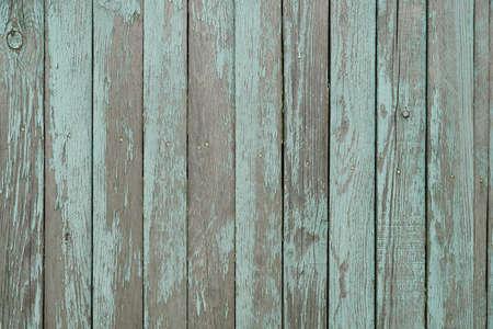 Aged painted wood fence texture Standard-Bild