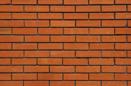 Red Orange Brick Wall For Background