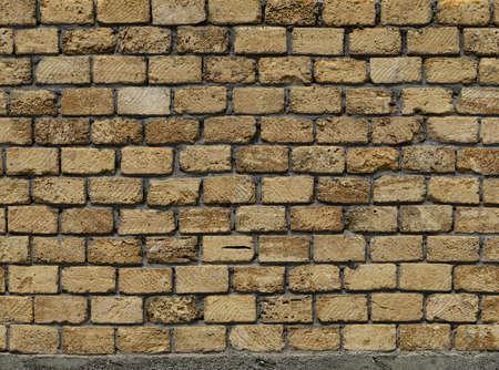 Seamless Antique Yellow Brick fence