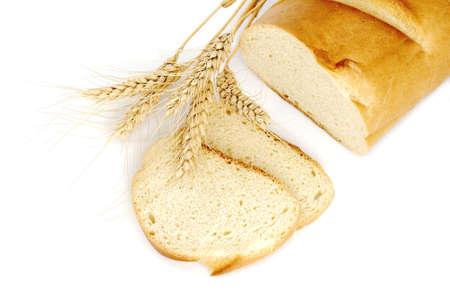 パン、白で隔離される小麦 写真素材