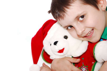クリスマスのクマの面白い子 写真素材