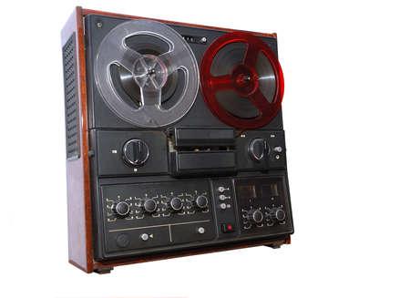 古いテープ レコーダー 写真素材