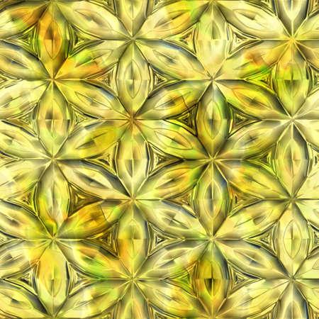 黄色のガラス花のテクスチャ