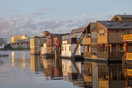 house float on water: Floating Houses, Victoria, BC, Canada Stock Photo