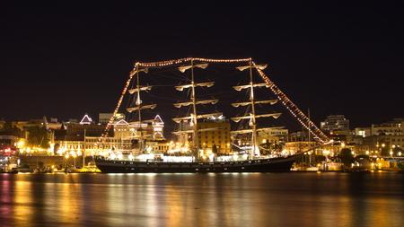 sail ship: Russian Sailing Ship Pallada Stock Photo