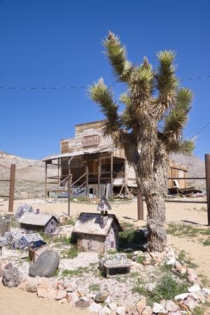 nevada desert: Ghost town, Nevada desert, USA