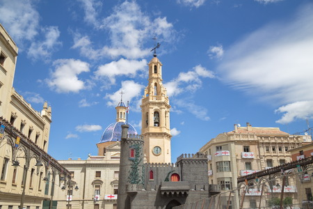 clock of the moors: View of Alcoy, Spain
