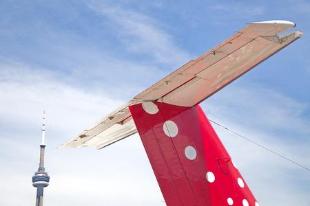 飛行機の尾