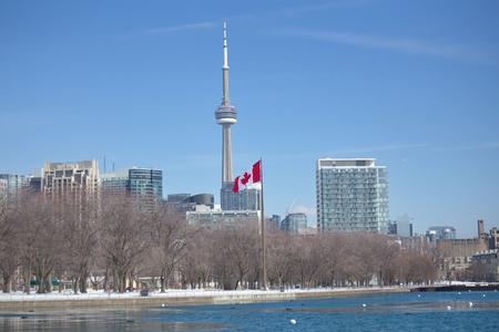 カナダ ・ オンタリオ州トロントのウォーター フロント エリアの表示
