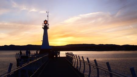 victoria bc: Ogden Point in Victoria, BC Stock Photo