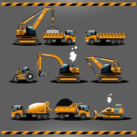 constrution: Constrution vehicle set Illustration