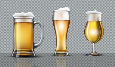 Full beer glasses mockup