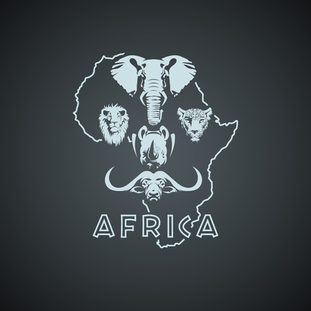 African Big Five Mock up. Layered and editable