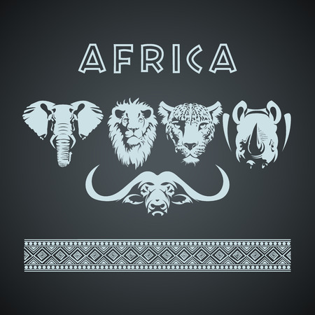 Vintage African Big 5 Mock up. Layered and editable