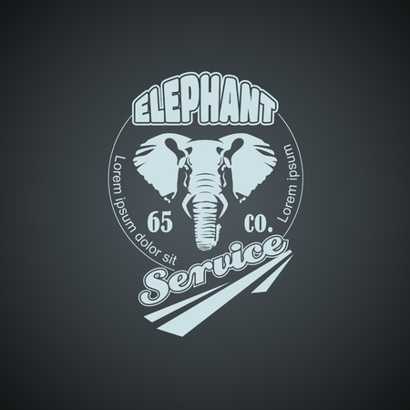 Vintage Elephant Mock up. Layered and editable Vectores