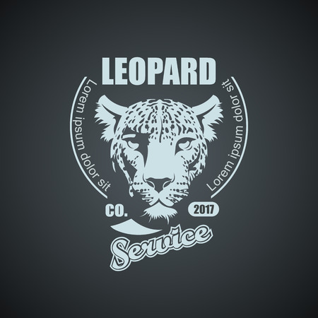 Vintage Leopard Mockup. Layered and editable