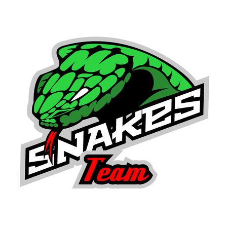 Snakes team mockup. Layered and editable