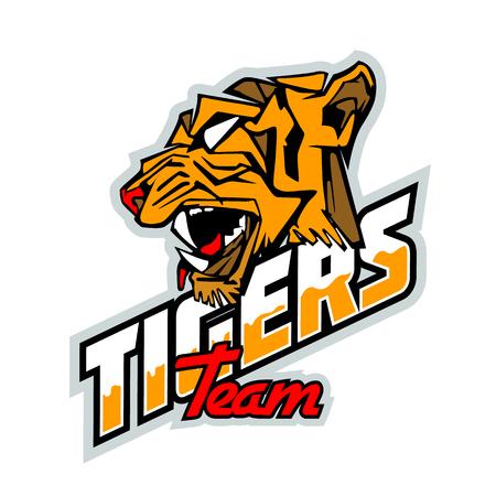 Tigers team Logo Mockup. Layered and editable