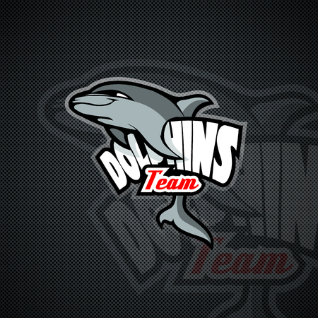 Dolphins Team Mockup. Layered and editable 矢量图像