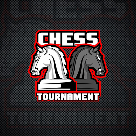 Chess figure logo. Layered and editable