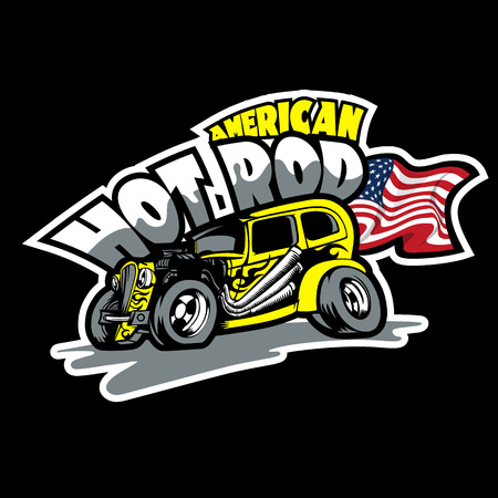 Hot Rod Logo. HiRes vector file