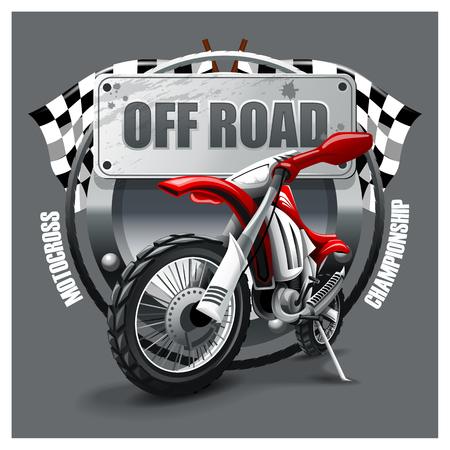 Motorcross-logo. HiRes vectorbestand Logo