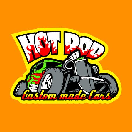 Hot Rod logo. HiRes vector file Vectores