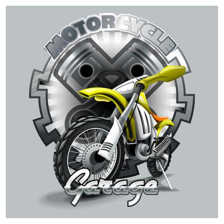 Logo del garage del motociclo. File vettoriale HiRes Logo