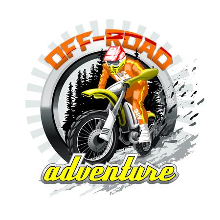 Logo di avventura fuoristrada. File vettoriale ad alta risoluzione