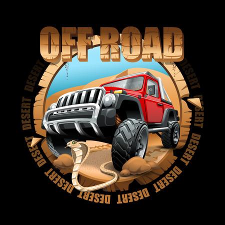 Logo d'aventure de SUV du désert. Fichier vectoriel haute résolution Logo