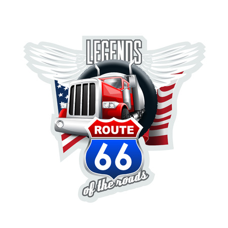 Route 66 Legends.  High Resolution vector file