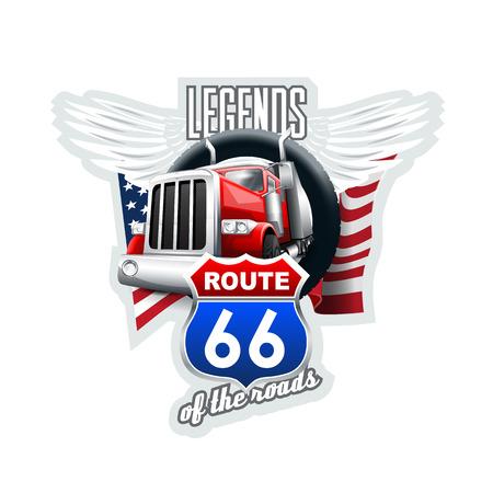 Ruta 66 Leyendas. Archivo vectorial de alta resolución