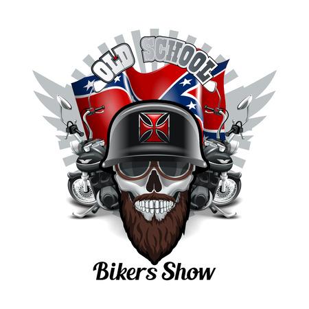 Bikers Old school logo.  High Resolution vector file