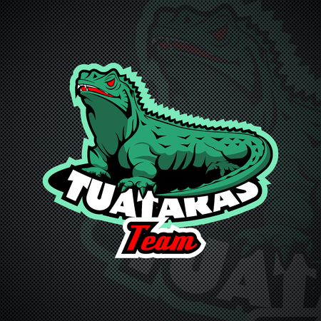 Tuataras Team logo.  High Resolution vector file Ilustrace