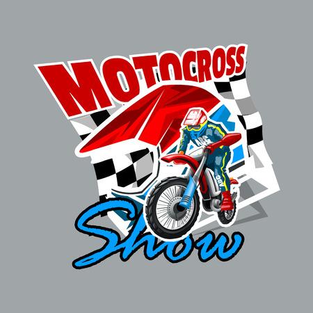 Motocross show logo. High Resolution vector file