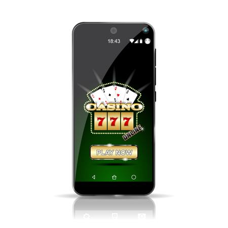 Casino APP on smartphone.  High Resolution vector file