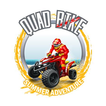 ATV Quad Bike logo.  High Resolution vector file