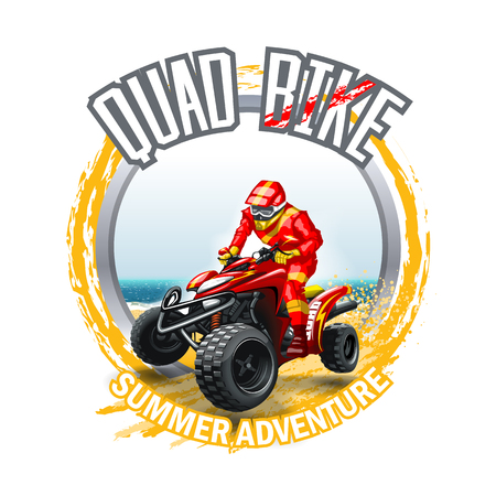 ATV Quad Bike logo.  High Resolution vector file