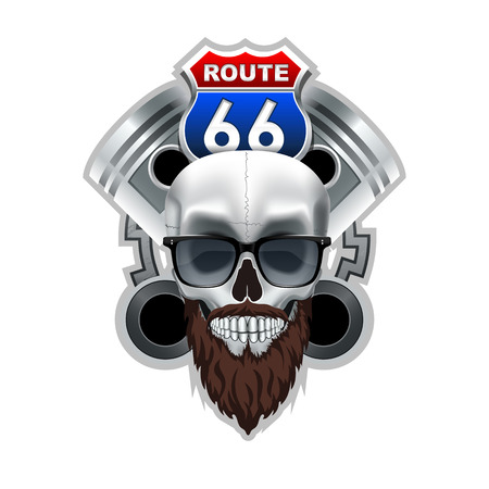 Route 66 Club Logo.  High Resolution vector file