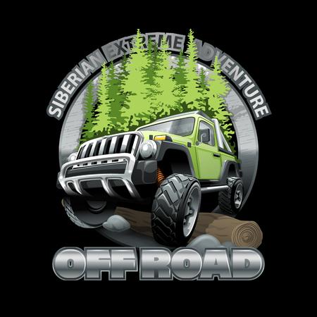 Logo fuoristrada estremo. File vettoriale ad alta risoluzione Logo