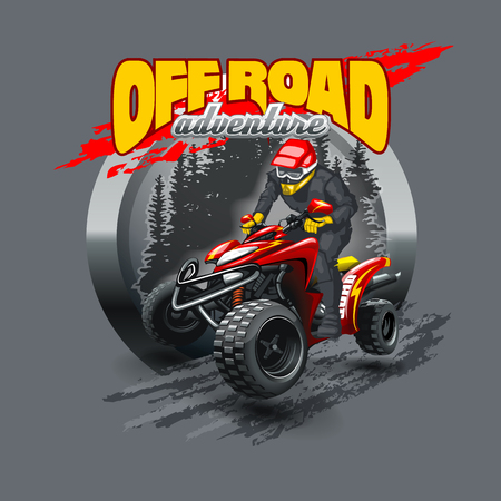 Off Road ATV logo. High resolution vector