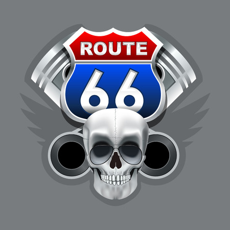 Route 66 logo. High resolution vector