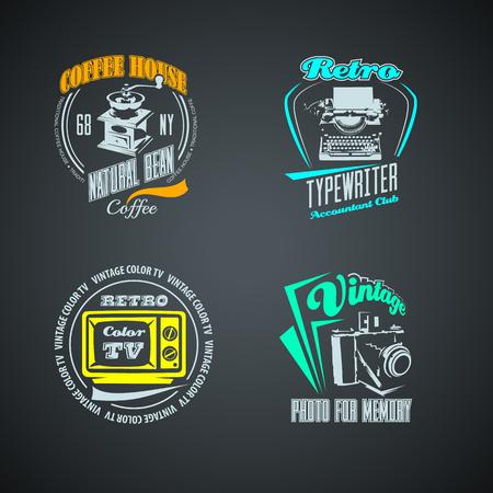 Set of Vintage logo. High resolution vector