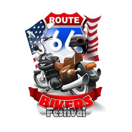 Route 66 festival Logo. High resolution vector