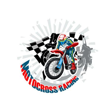 Motocross. High resolution vector