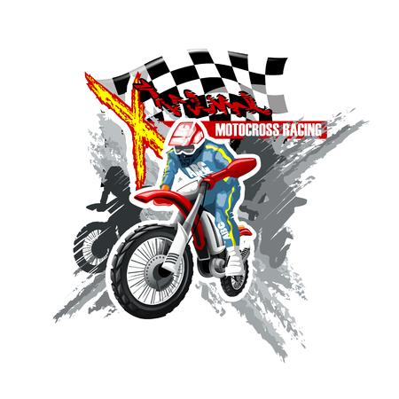 Motorcross-logo. Hoge resolutie vector