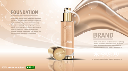 Skin Cre lotion ads mockup. High resolution vector Illustration