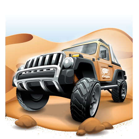 Off Road Vehicle SUV, extreme desert race.